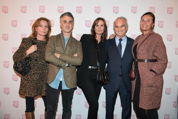 Alix Girod de l'Ain, Edouard Dutour, Brune de Margerie (ELLE), Alain Terzian et Nathalie Dupuis (ELLE)