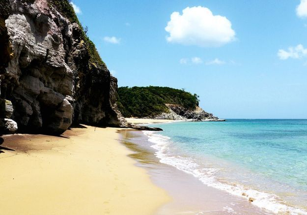 La plage de Petit-Havre en Guadeloupe
