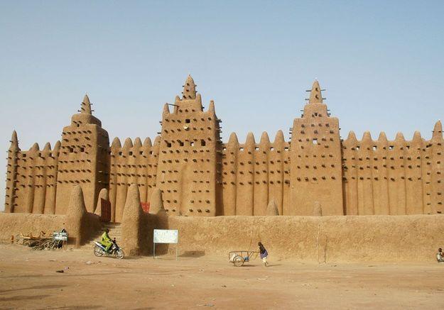 La Grande Mosquée en boue à Djenné, au Mali