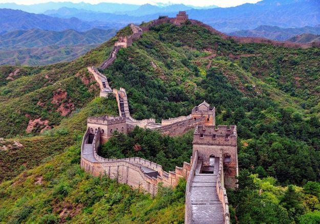La Grande Muraille de Pékin au désert de Gobi, en Chine