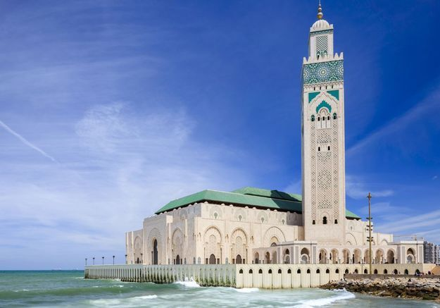 La Mosquée Hassan II à Casablanca, au Maroc