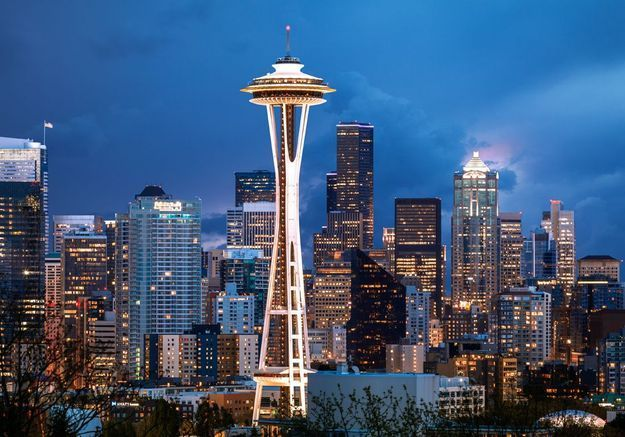 Le Space Needle à Seattle, aux Etats Unis