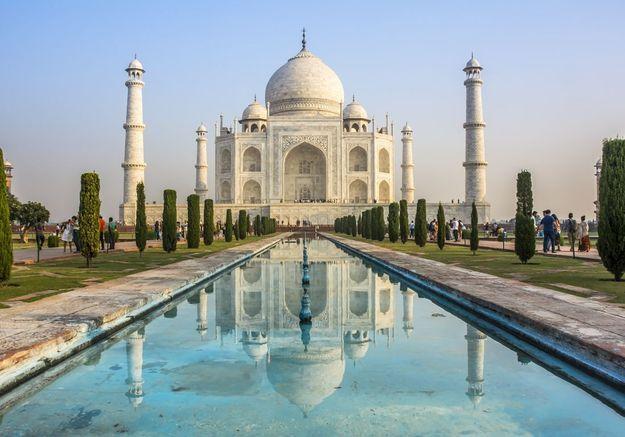 Le Taj Mahal à Agra, en Inde