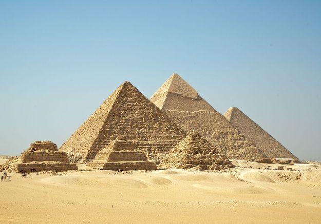Les pyramides de Gizeh, en Egypte