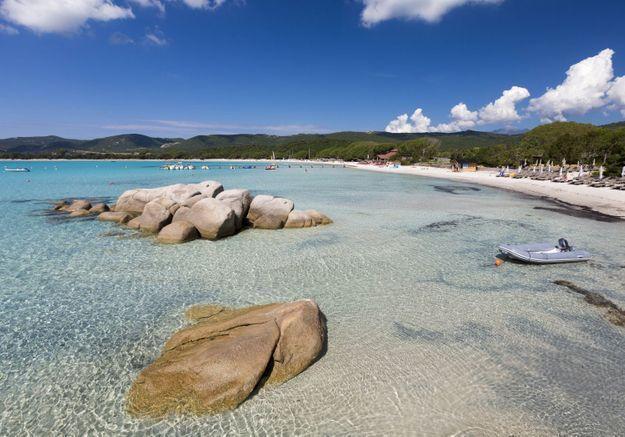 La plage Roccapina, en Corse