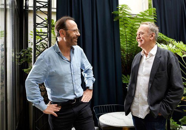 Marc Levy et Hervé Le Tellier, itinéraire d'une amitié croisée