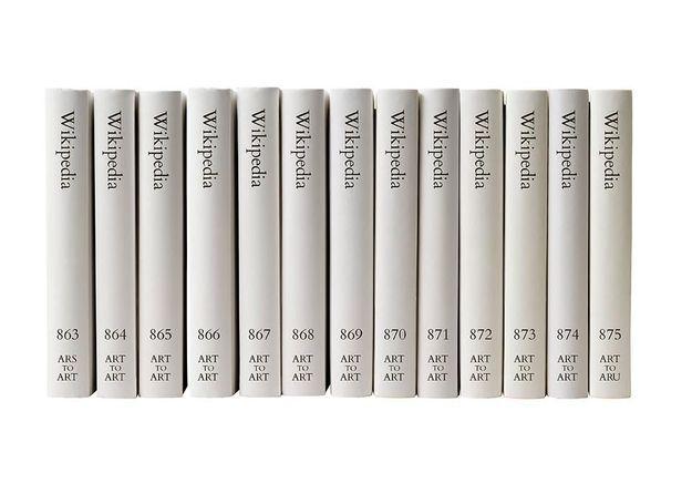 #PrêtàLiker : un artiste imprime l'intégralité des pages Wikipédia en anglais