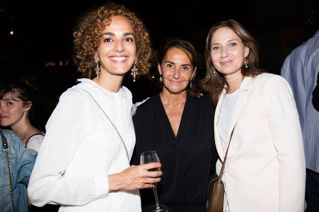 Leïla Slimani, Constance Benqué et Olivia de Lamberterie (ELLE)