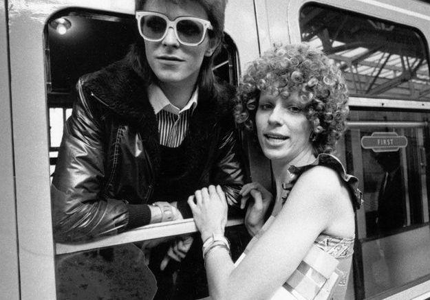 David Bowie et sa première épouse Angie en 1973