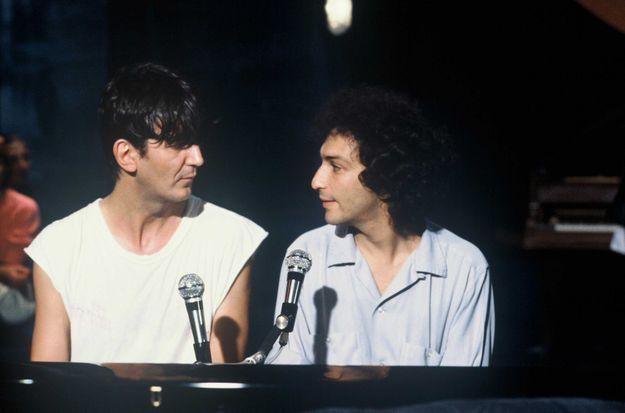 Jacques Higelin et Michel Berger en 1980