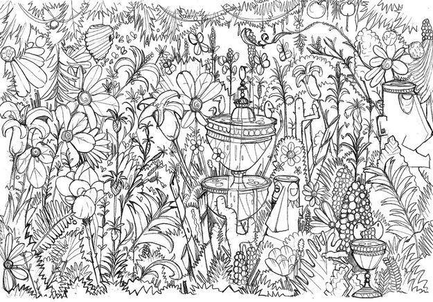 moncoloriageelle le jardin fleuri elle. Black Bedroom Furniture Sets. Home Design Ideas