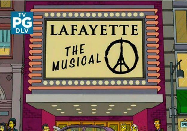 #PrêtàLiker : les Simpson rendent hommage à Paris