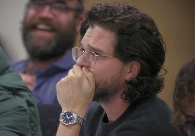 Game Of Thrones : regardez la réaction de Kit Harrington qui lit la scène finale entre Jon Snow et Daenerys