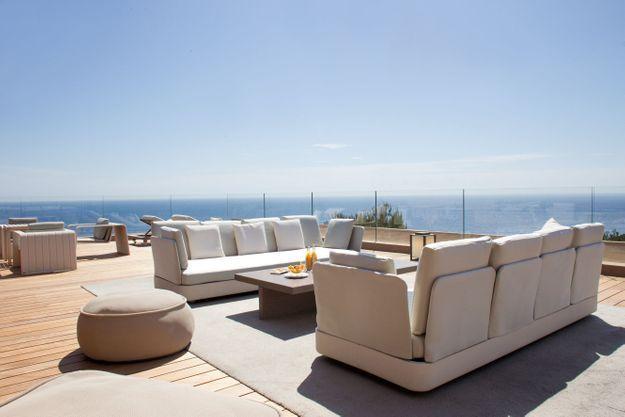 La terrasse de rêve de La Réserve à Ramatuelle (Var)