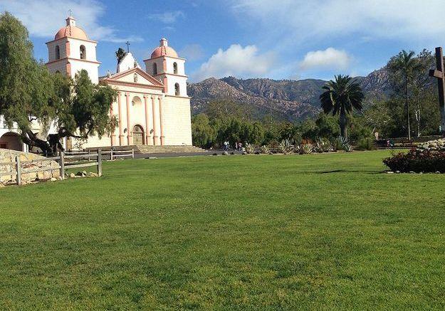La mission de Santa Barbara