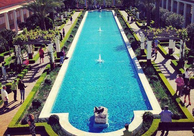 Les jardins de la Villa Getty