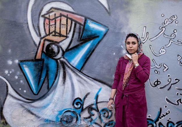 5 photos de Shamsia Hassani, la première street artist afghane