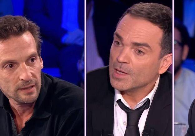 Yann Moix et Mathieu Kassovitz dans « On n'est pas couché » en janvier 2016