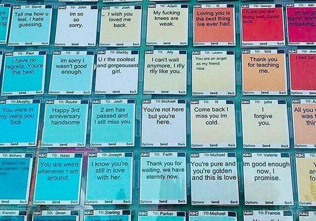 #PrêtàLiker : quand les SMS jamais envoyés aux ex deviennent des œuvres d'art