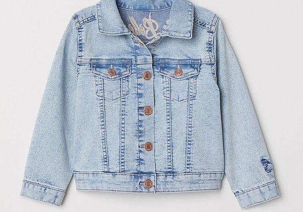 Veste en jean brodée H&M