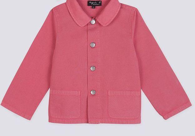 Veste rose en coton Agnès b.