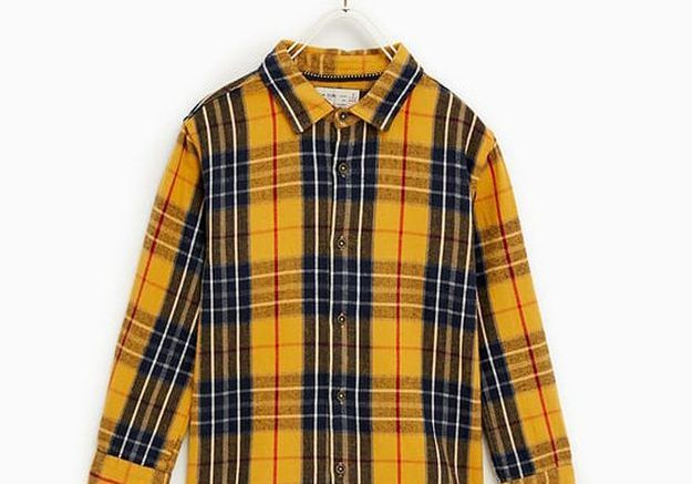 Chemise à carreaux Zara