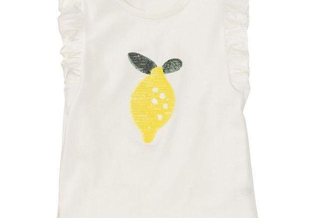 T-shirt avec citron en paillettes Hema