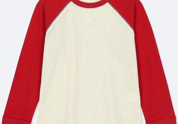 T-shirt bi colore à manches longues Uniqlo