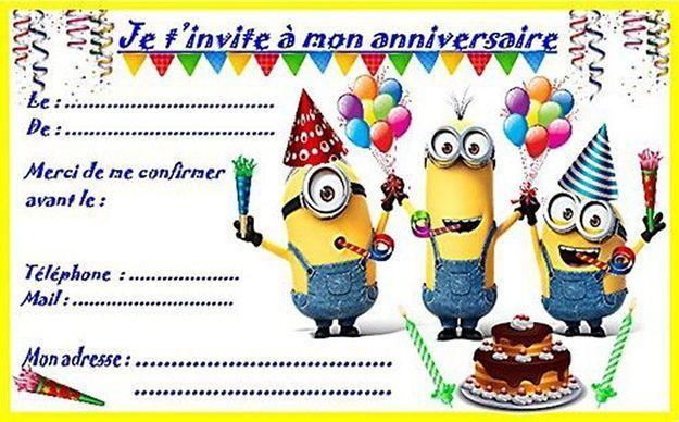 Invitation Minions