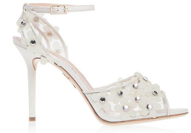 Sandales en suède avec cristaux Charlotte Olympia sur Shoescribe.com printemps été 2015