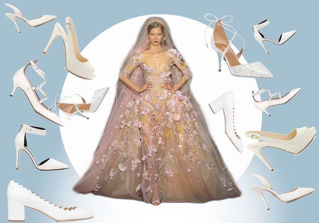 18 paires d'escarpins blancs pour un mariage réussi