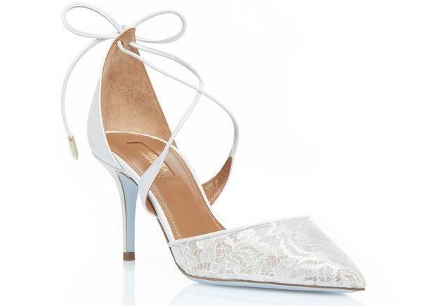Escarpins blancs à lacets