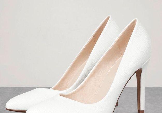 Escarpins blancs texturés
