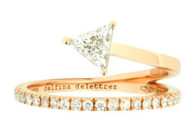 Alliance originale or rose Delfina Delettrez