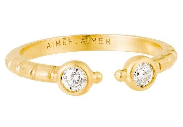 Alliance originale pour mariage Aimée.Aimer