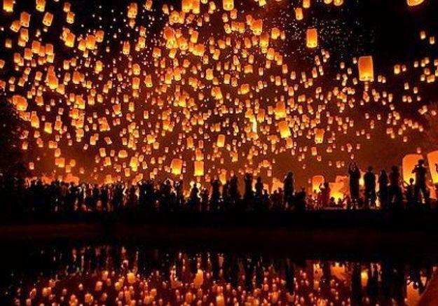 Lanterne volante chinoise