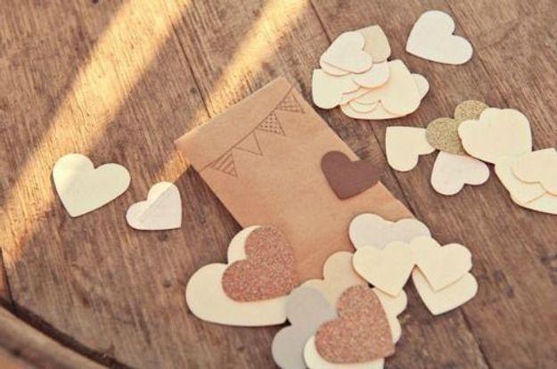 Confettis de mariage à faire soi-même