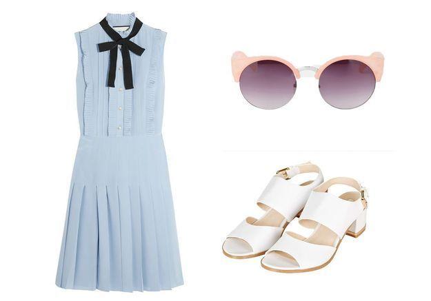 Robe mariage bleue Gucci