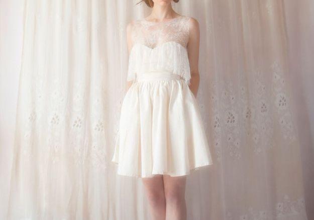 Robe de mariée bustier Violette Tannenbaum