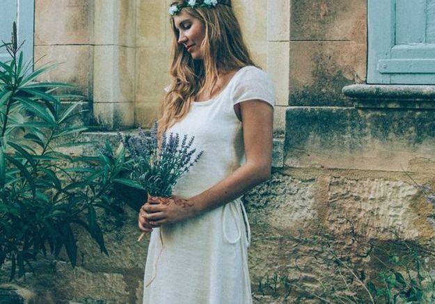 Robe de mariee en satin de soie Vanda Outh