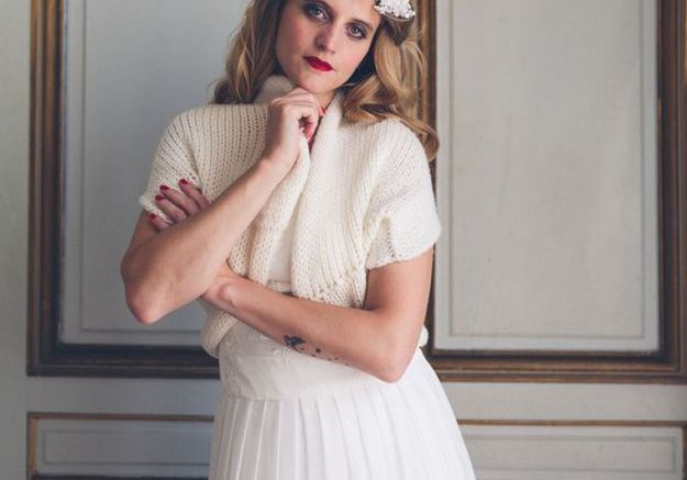 Robe de mariée folk Stéphanie Wolff Paris