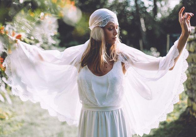 Robe de mariée gipsy Lorafolk