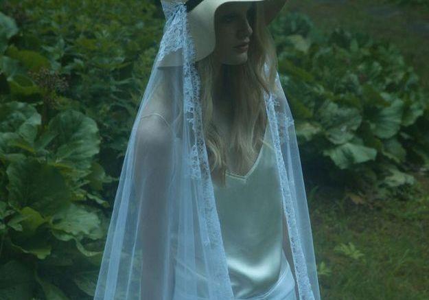 Voile plumetis de mariée Delphine Manivet