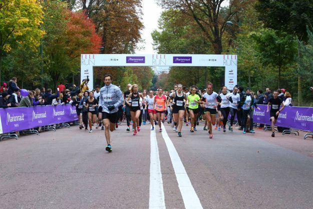 En duo, les 4 000 participants s'élancent pour 7 kilomètres