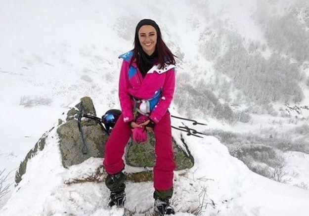 Delphine Wespiser à la montagne