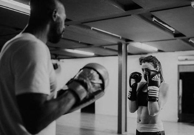 Rachel Legrain-Trapani à la boxe