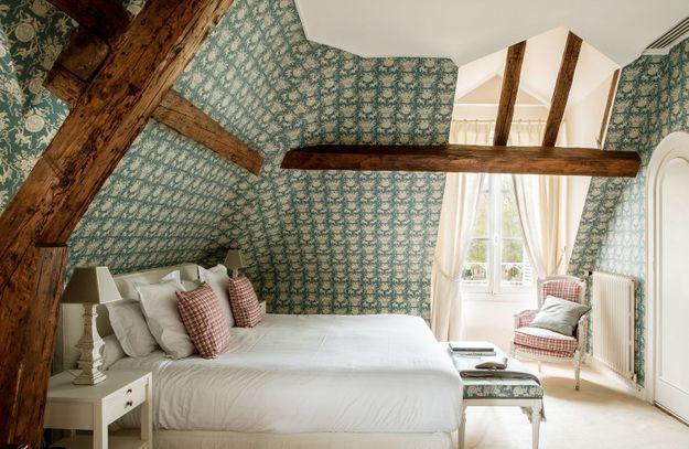 L'une des chambres des Hauts de Loire