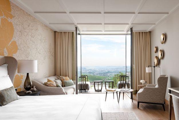 L'une des chambres du Royal Champagne Hotel & Spa