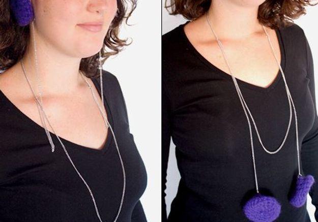Accessoires en mailles lise fainsilber winter necklace oreillettes