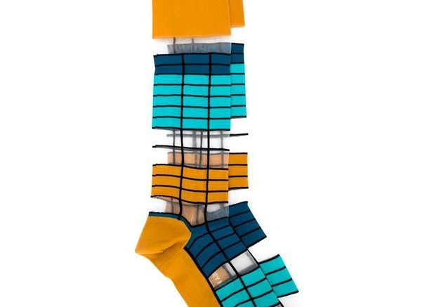 Chaussettes à rayures Issey Miyake